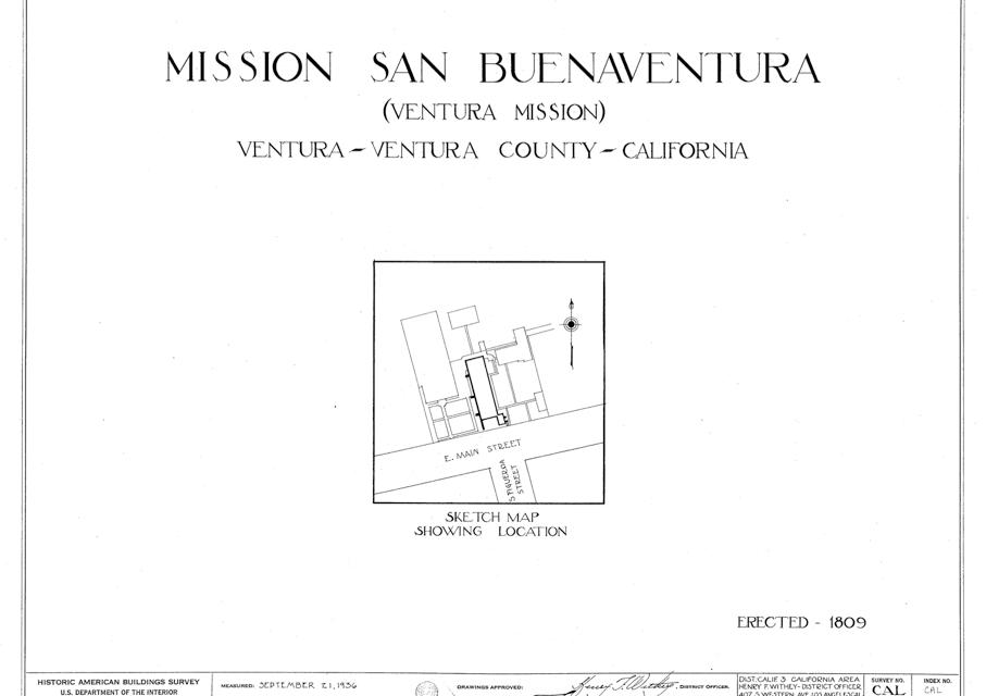 Mission San Buenaventura Floor plan